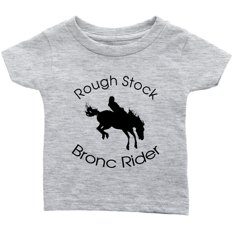 Rough Stock Bronc Rider Infant T-Shirt - Heather Gray