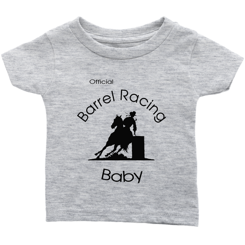 Official Barrel Racing Baby Infant T-Shirt - Heather Gray