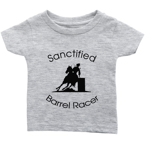 Sanctified Barrel Racer Infant T-Shirt - Heather Gray