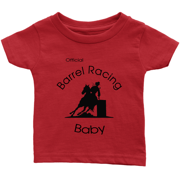 Official Barrel Racing Baby Infant T-Shirt - Red