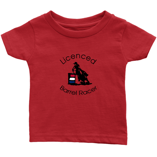 Licenced Barrel Racer Infant T-Shirt - Red