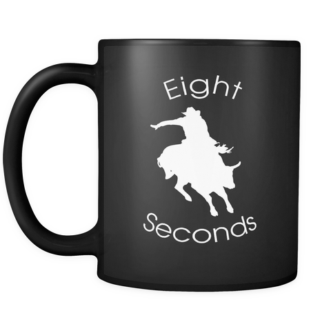 Eight Seconds - Bullriding Black Coffee Mug