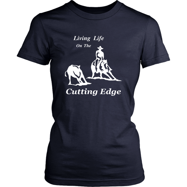 Living Life on the Cutting Edge Ladies District Short Sleeved Shirt