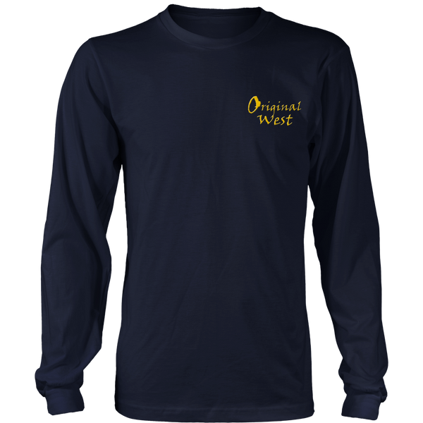 Official OriginalWest Crew Neck Long Sleeve District Shirt - Unisex - Navy Blue