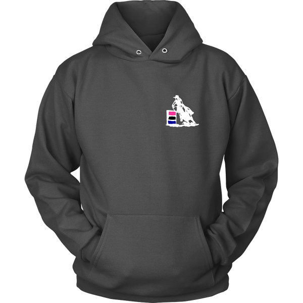 I Know I Ride Like a Girl - Hoodie for Cowgirls in Charcoal