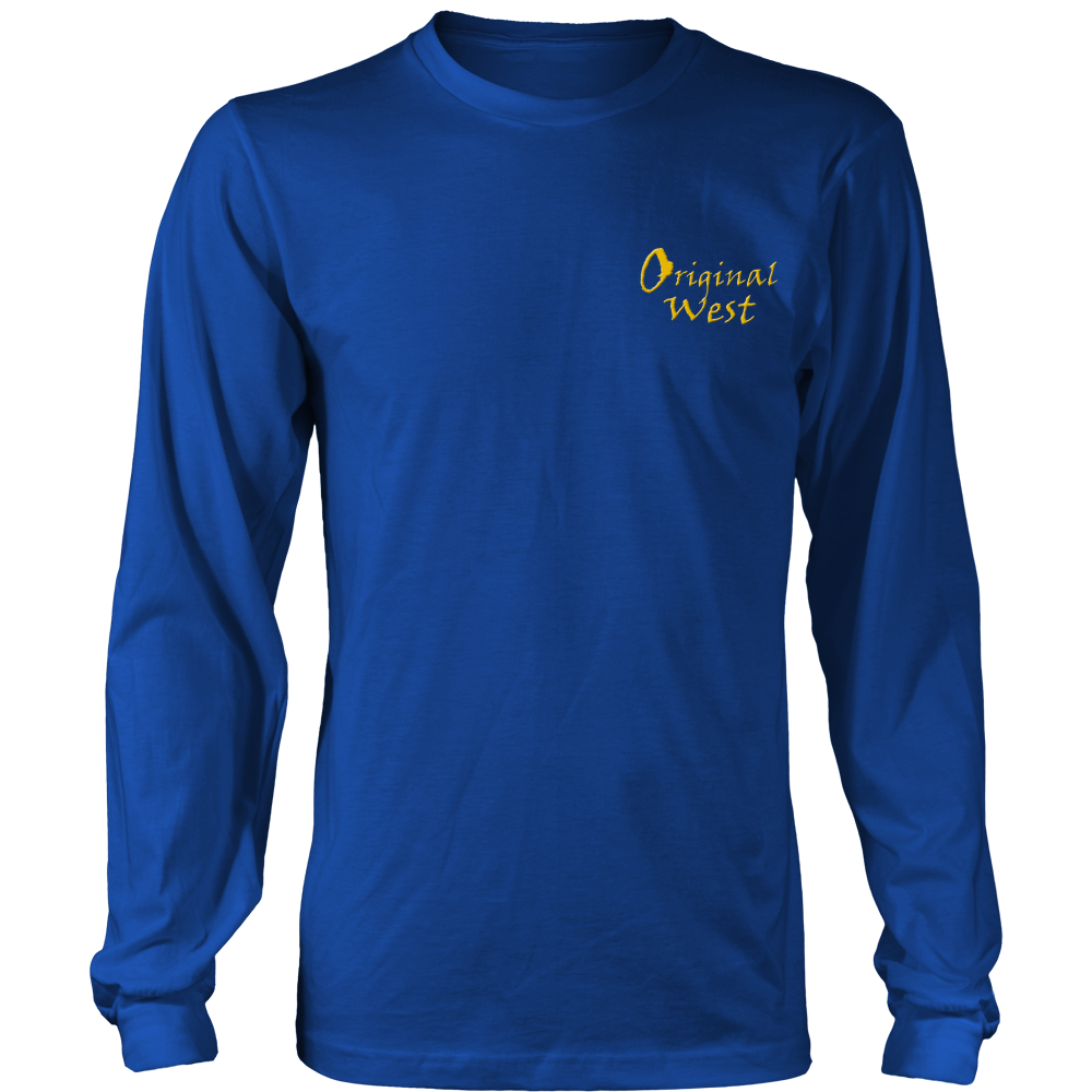 Official OriginalWest Crew Neck Long Sleeve District Shirt - Unisex - Royal Blue