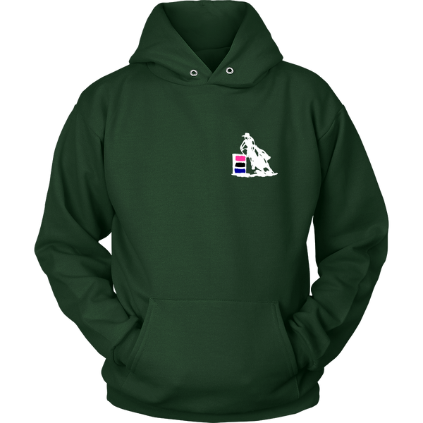 I Know I Ride Like a Girl - Hoodie for Cowgirls in Dark Green