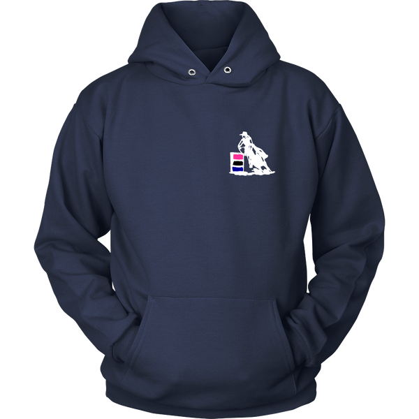 I Know I Ride Like a Girl - Hoodie for Cowgirls in navy