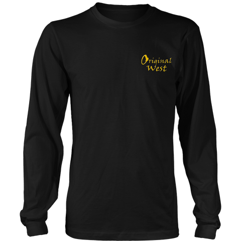 Official OriginalWest Crew Neck Long Sleeve District Shirt - Unisex - Black