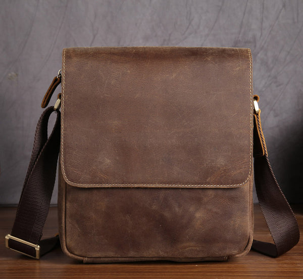 Front Flap Closure Genuine Leather Bag