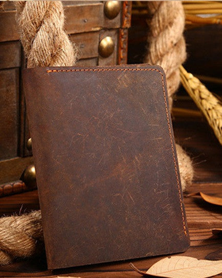 Slim Vintage Genuine Leather Easy Fold Wallet for Men