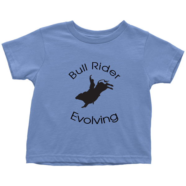 Bull Rider Evolving Toddler T-Shirt - Blue