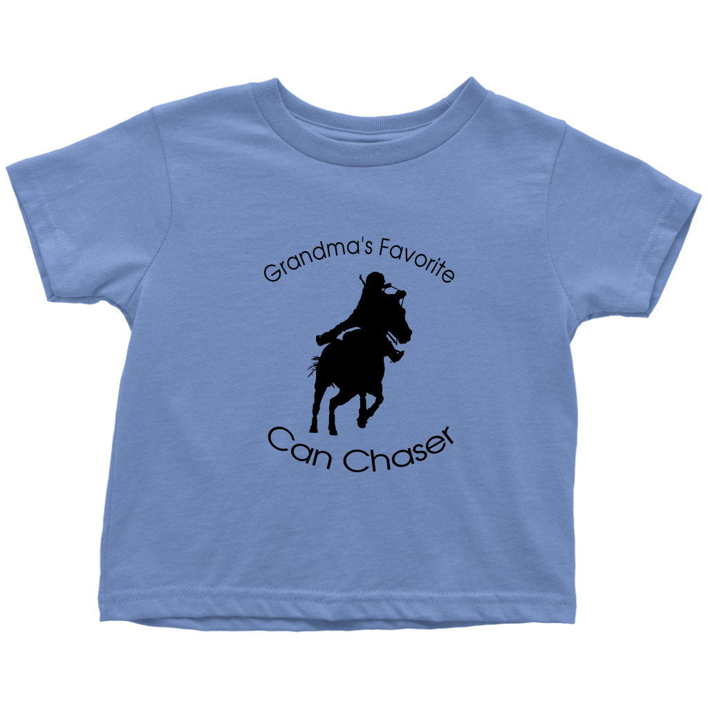 Grandma's Favorite Can Chaser Toddler T-Shirt - Baby Blue