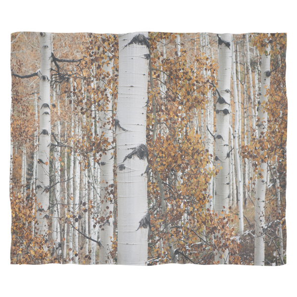 "Apen Grove in Autumn - Fleece Blankets Sofa Throw Medium: 60""x50"""