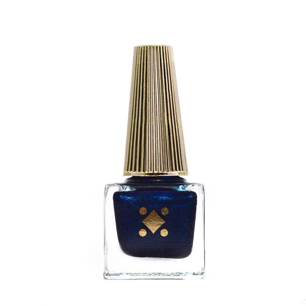 BRICKELL BLUE - navy blue - metallic nail lacquer by Deco Miami
