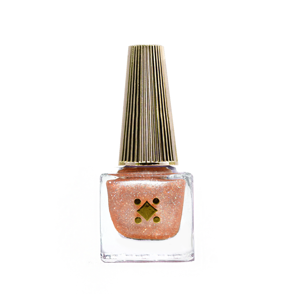 LASHES & DIAMONDS, ATM MACHINES - 6ML - champagne glitter nail lacquer by Deco Miami