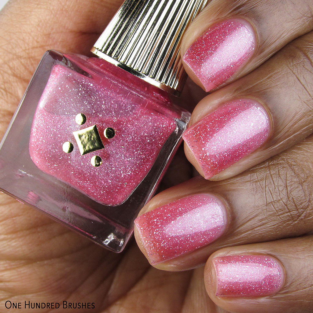As If Swatch Sparkly Pink