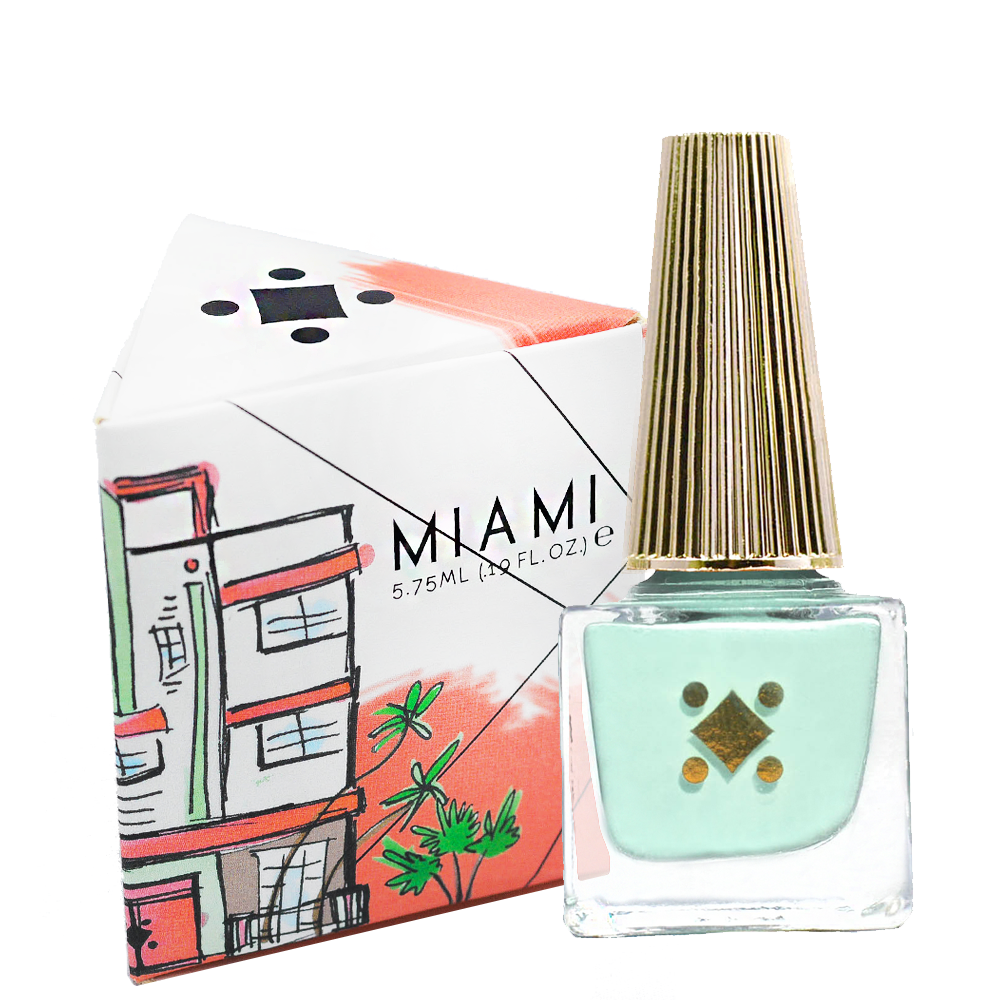 Deco Miami Nail Lacquer Petite Palm with triangle box
