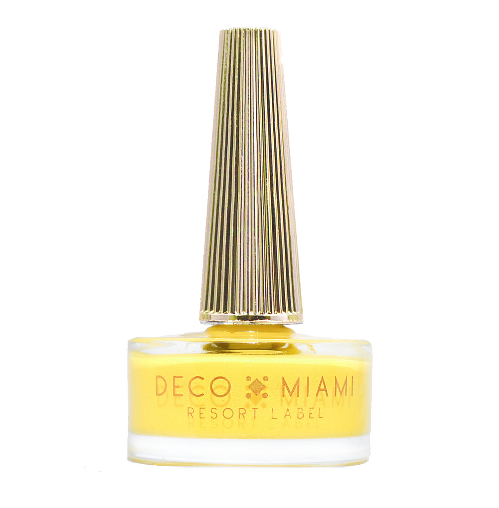 TEQUILA SUNRISE - 14.8ML - canary yellow crème nail lacquer by Deco Miami