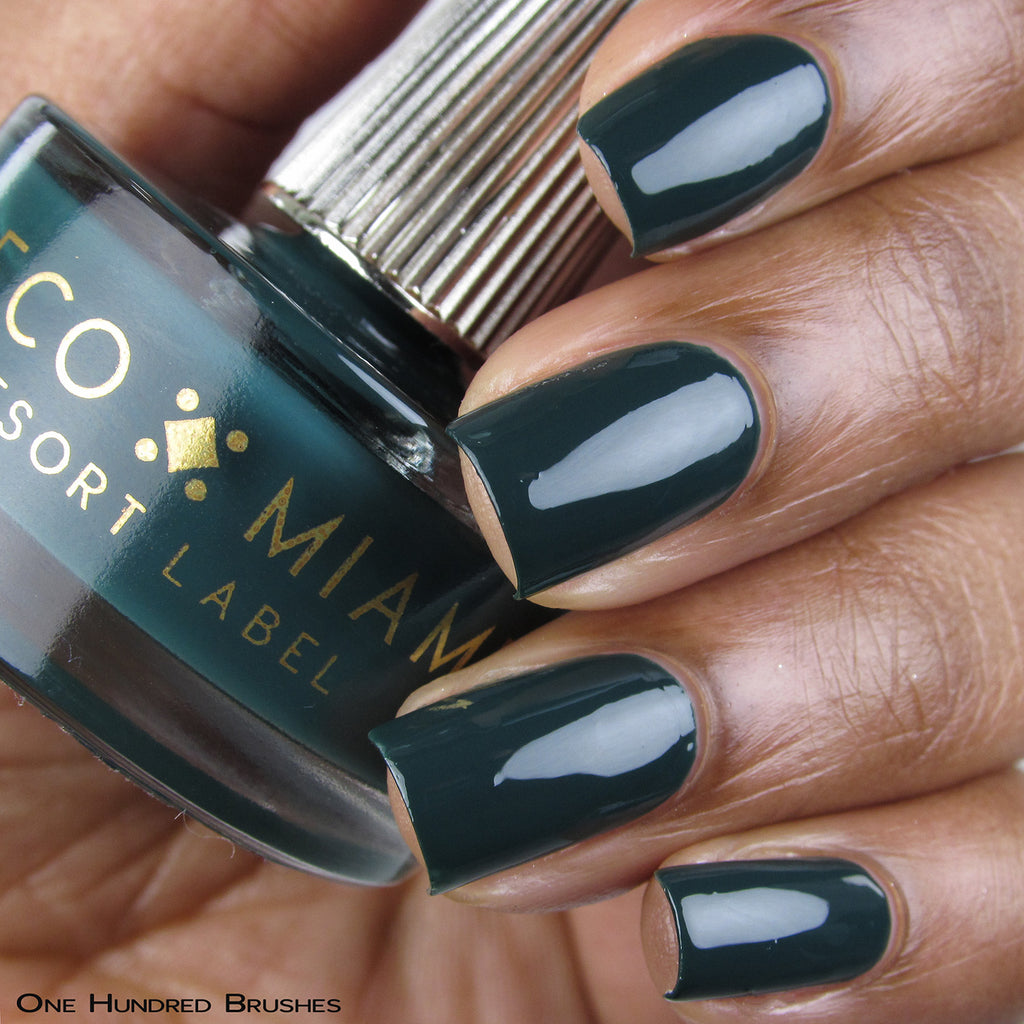 BAD REPUTATION - emerald green crème nail lacquer by Deco Miami