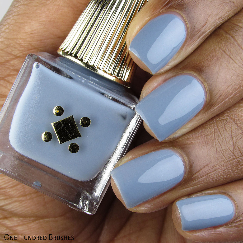 Birdie Swatch Dusty Blue Nail Polish