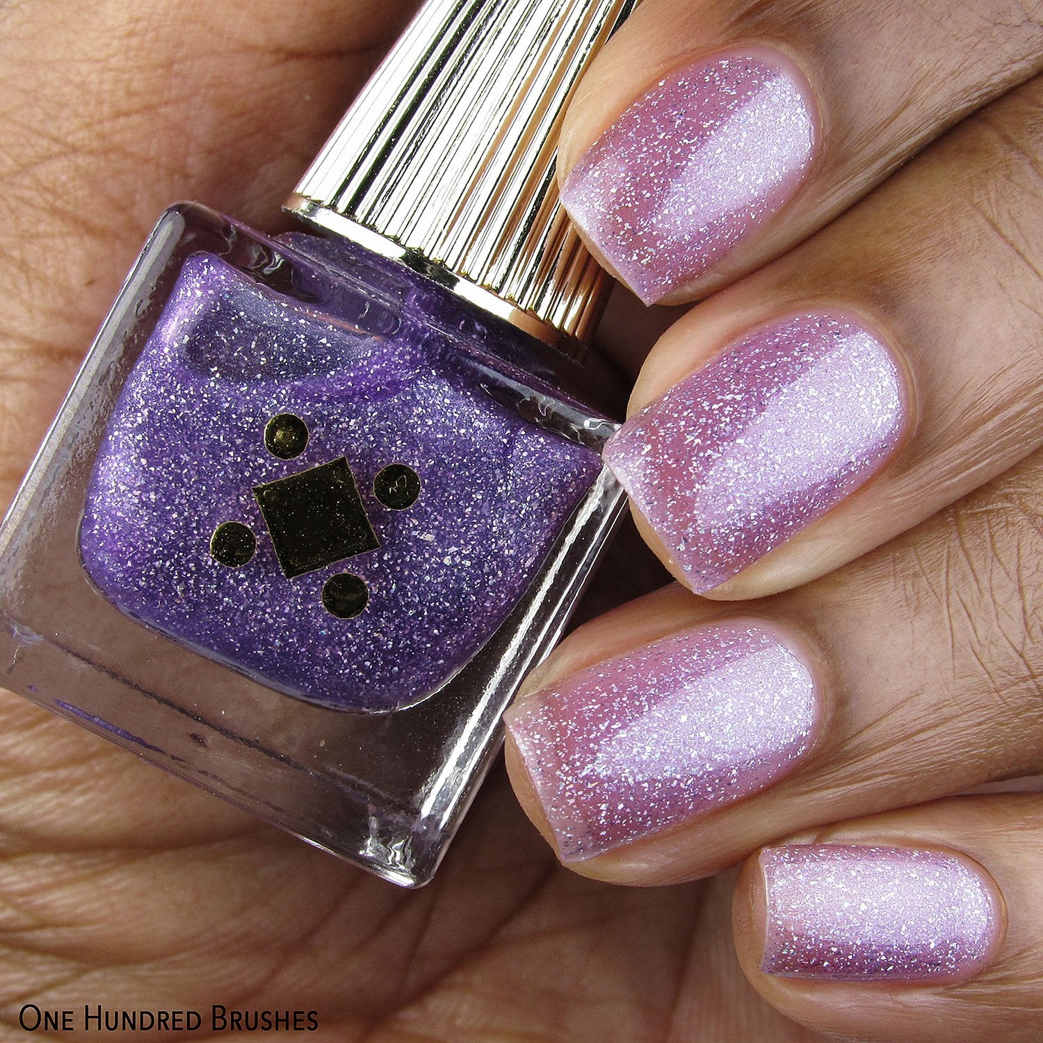 Cute But Pyscho Swatch Purple Sparkly Polish