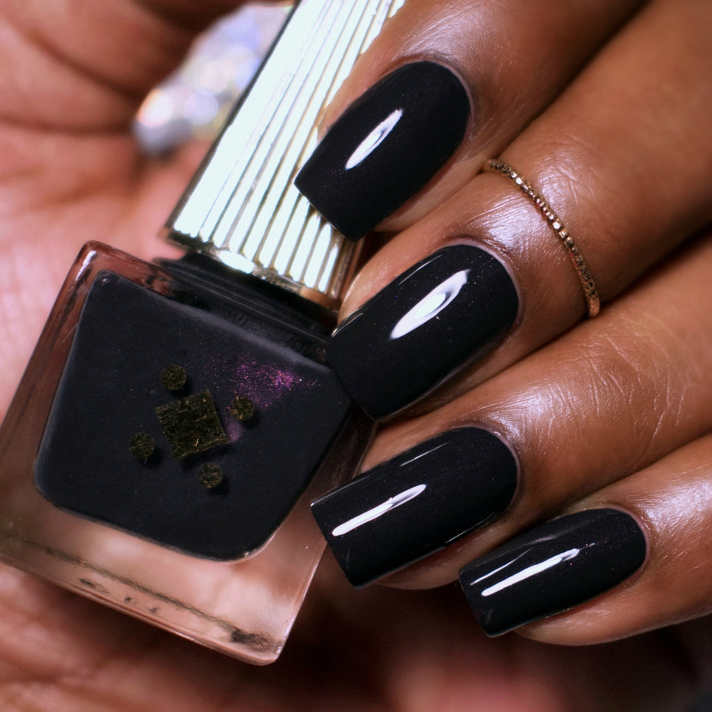 BLACK LIKE MY SOUL - black - crème nail lacquer by Deco Miami