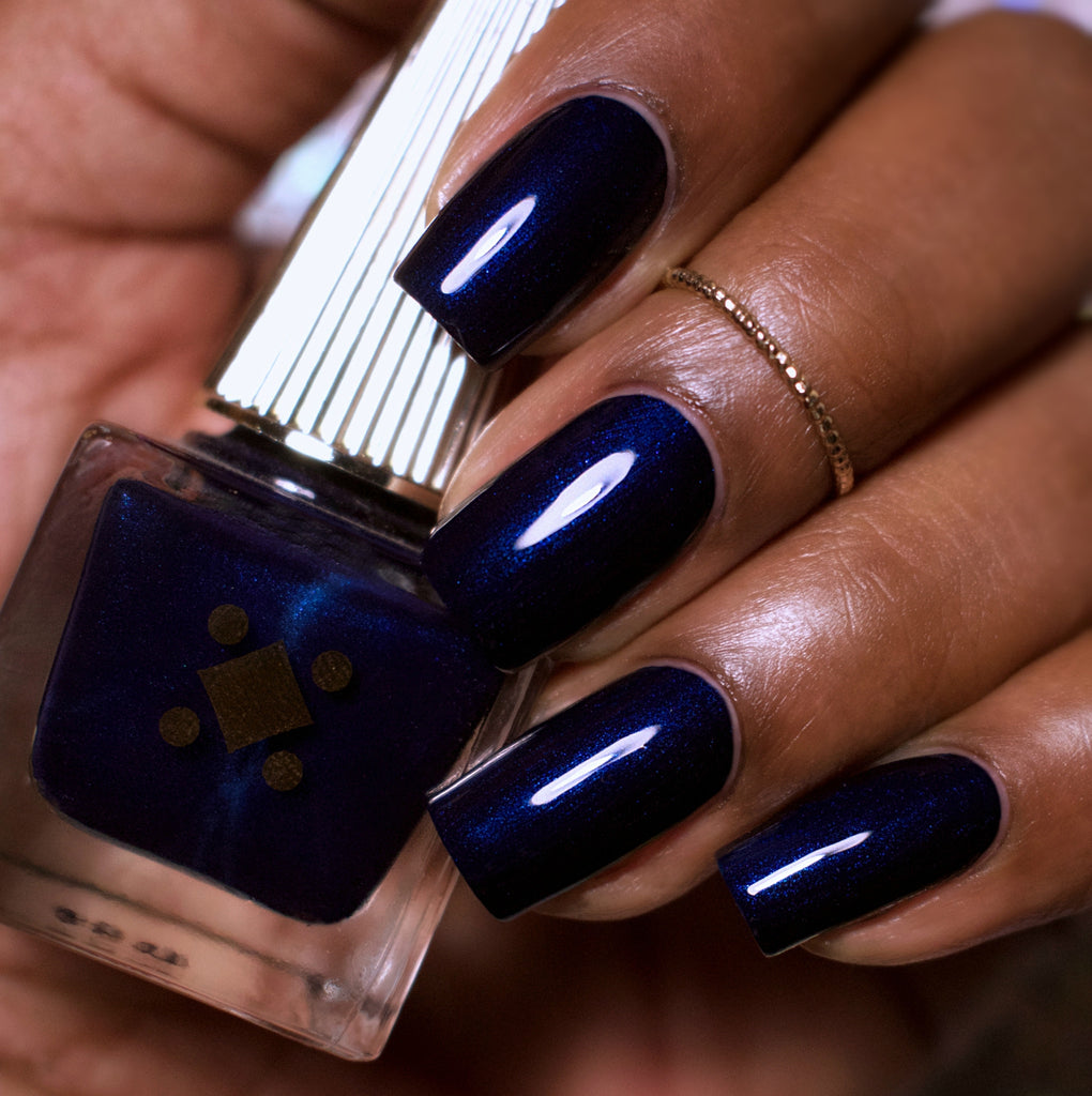 Deco Miami Nail Lacquer Brickell Blue Dark Swatch