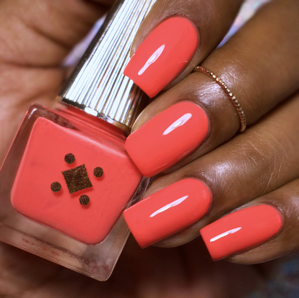 FEELING FUEGO -  - crème nail lacquer by Deco Miami coral orange crème nail lacquer by Deco Miami swatch