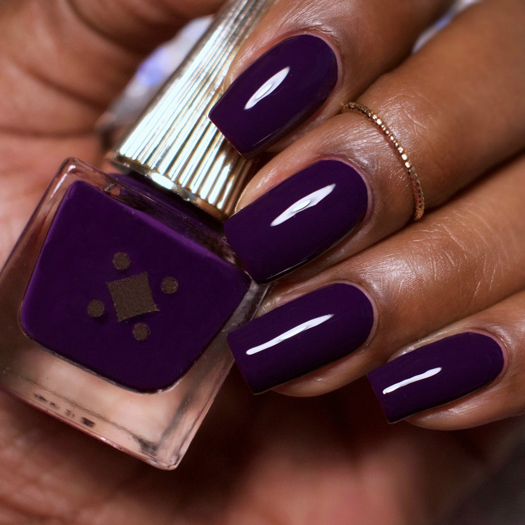 NOT YOUR FORTUNE TELLER - DEEP PLUM - crème nail lacquer by Deco Miami