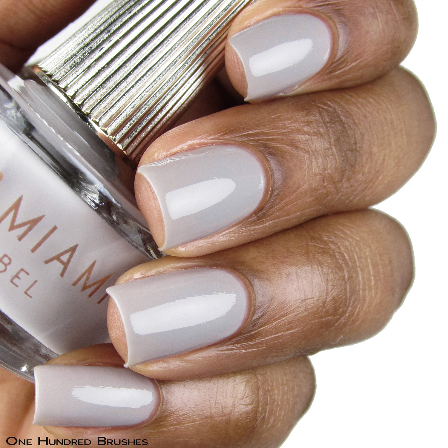 GHOSTED -grey crème nail lacquer by Deco Miami swatch