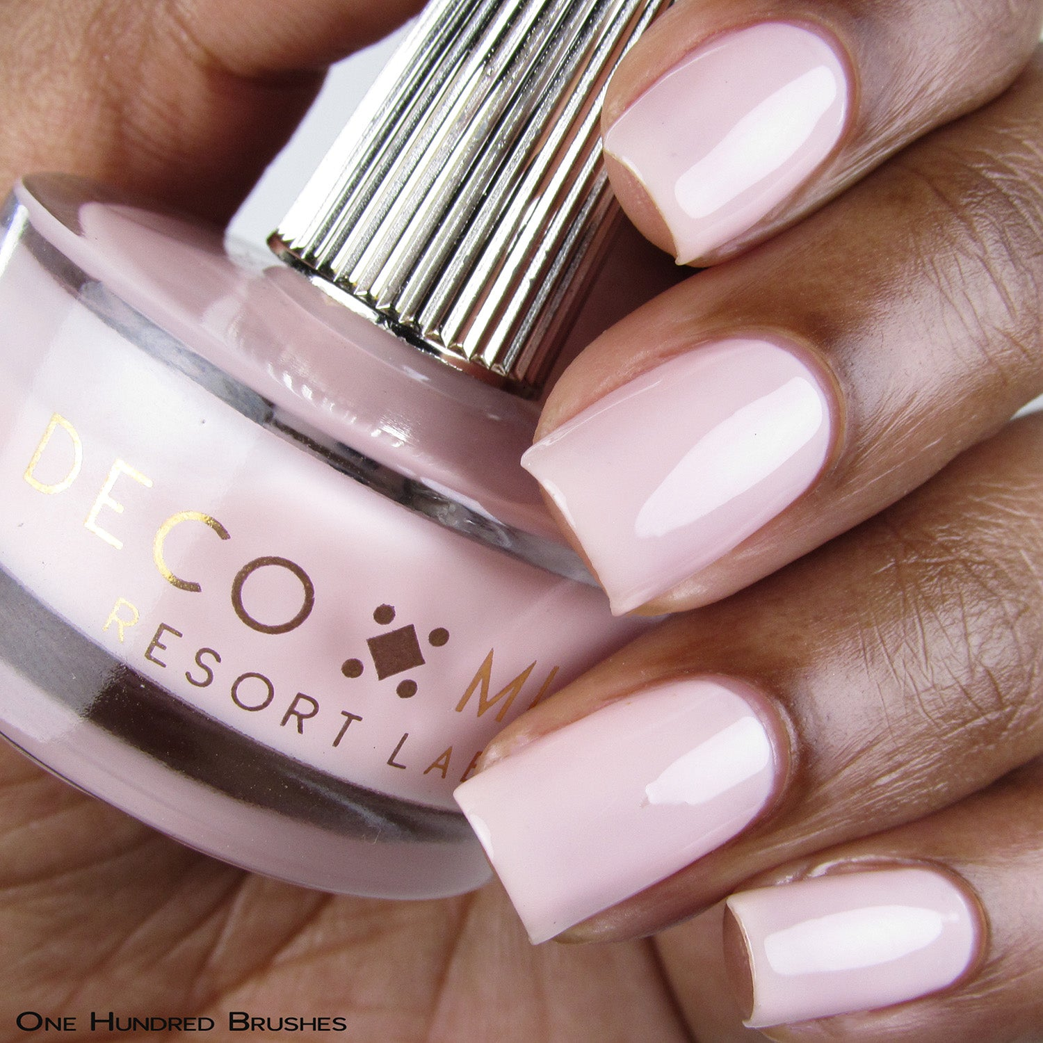 I LIKE YOUR AURA -  milky pink crème nail lacquer by Deco Miami swatch