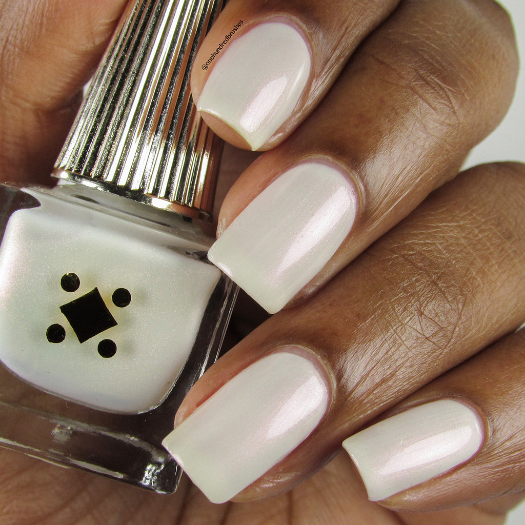 MOONSTONE -  milky white and pink monochrome crème nail lacquer by Deco Miami