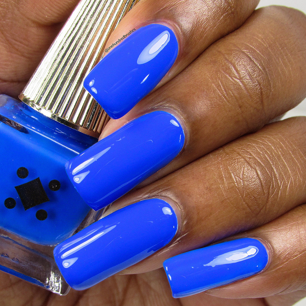 NAMASTE BY THE POOL -  royal blue crème nail lacquer by Deco Miami
