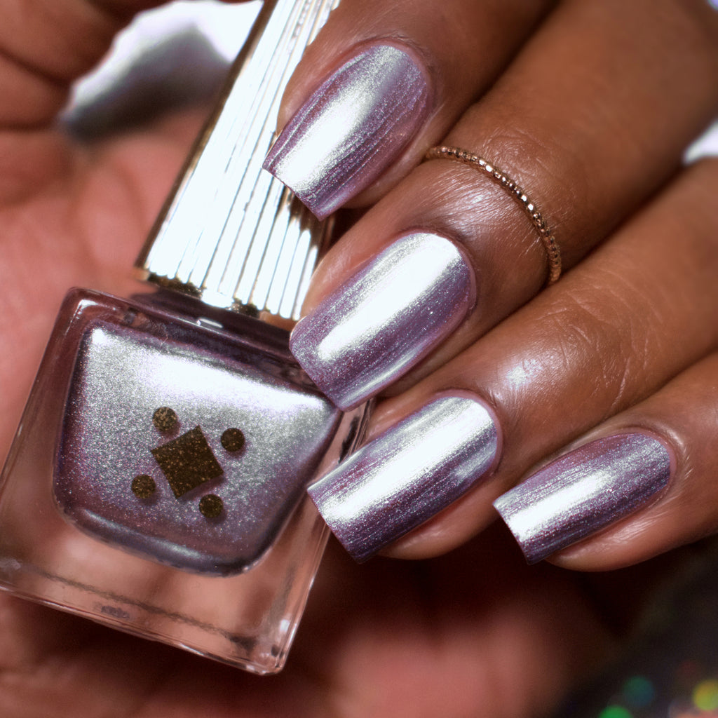 BOY BYE - lavender purple - swatch metallic nail lacquer by Deco Miami