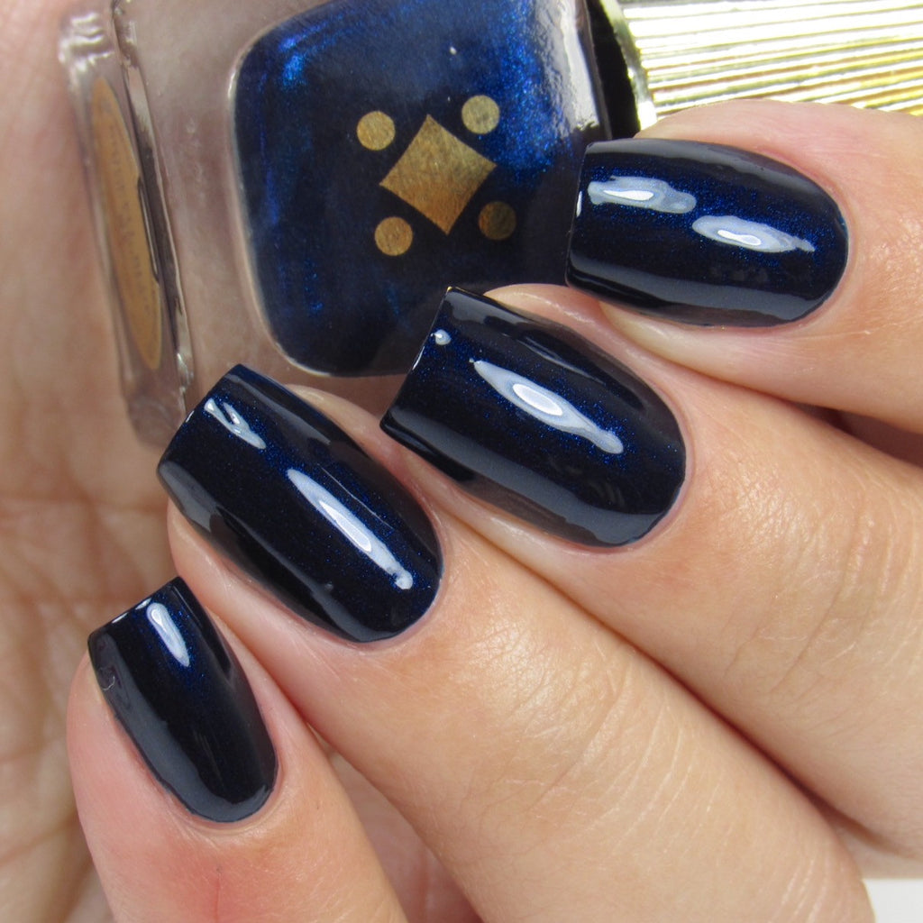 Deco Miami Nail Lacquer Brickell Blue Light Swatch