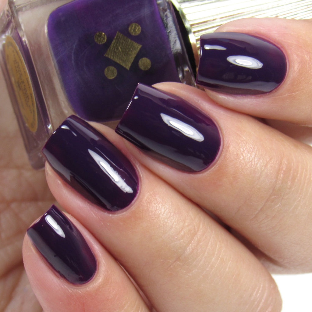 NOT YOUR FORTUNE TELLER -  plum purple crème nail lacquer by Deco Miami