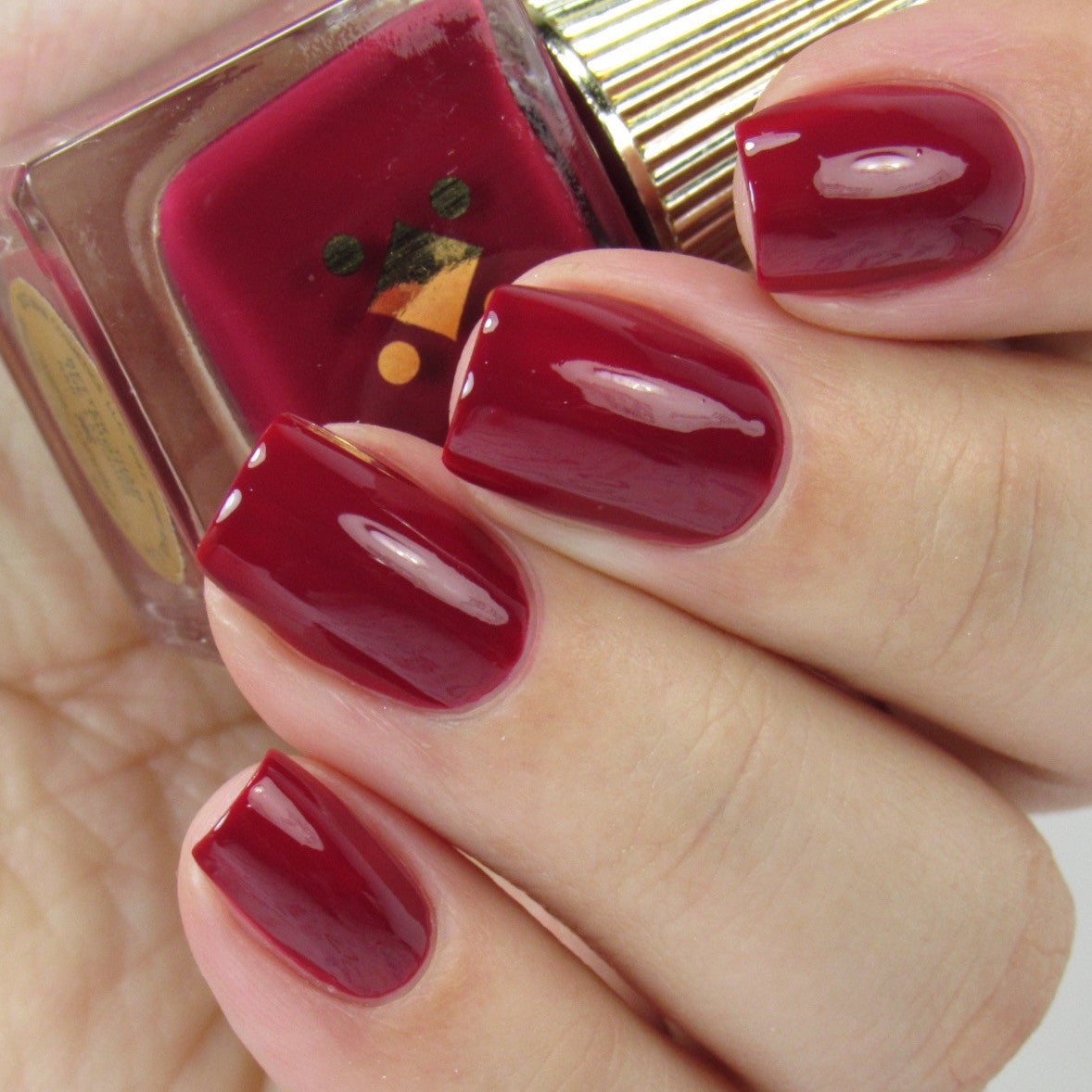 BETTER THAN THE PHOTOS - cranberry - crème nail lacquer by Deco Miami