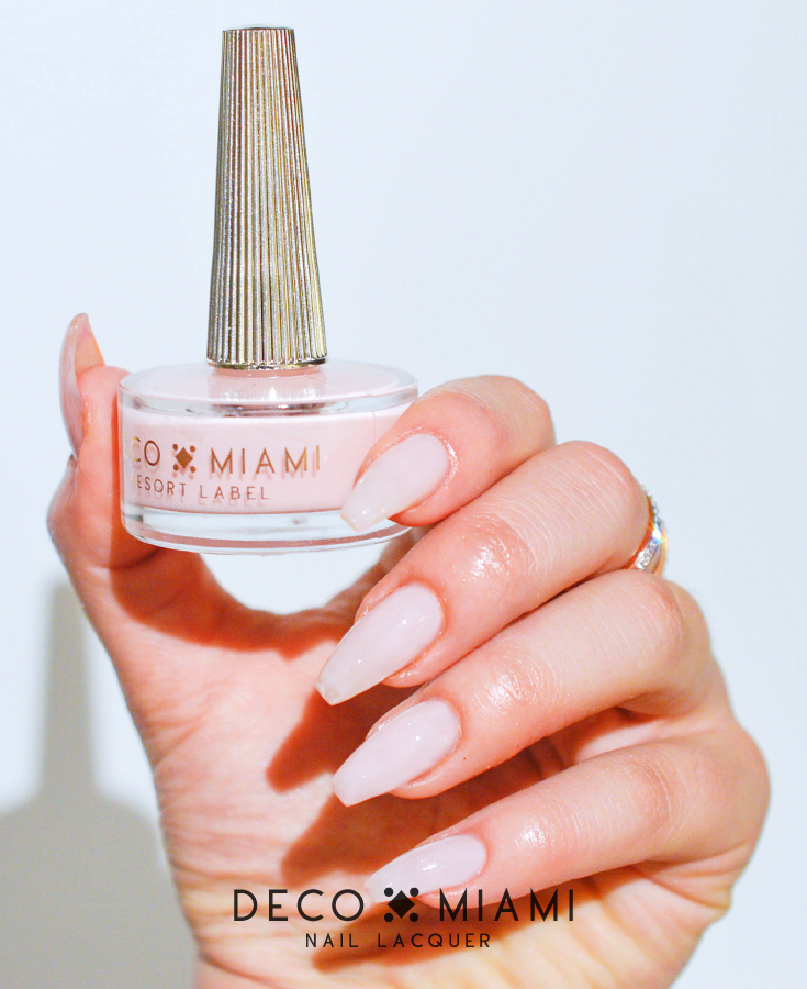 milky pink crème nail lacquer by Deco Miami