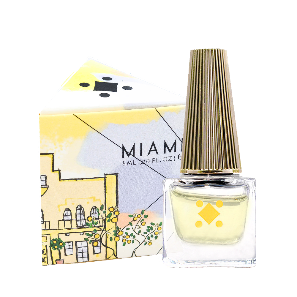 Deco Miami Lemon Blossom Cuticle Oil Nail Care with triangle box