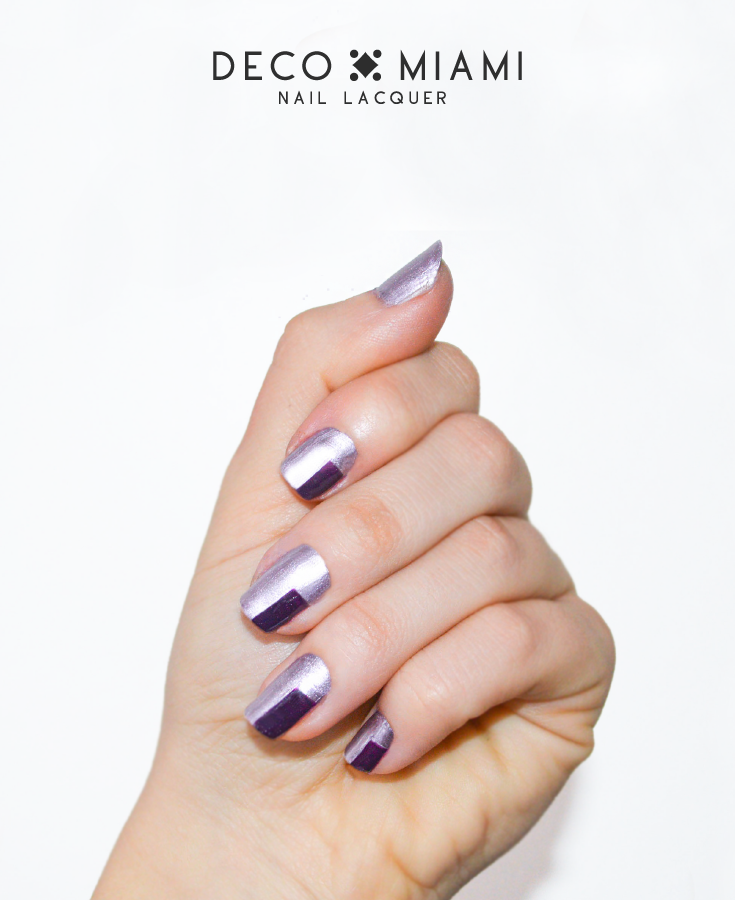 BOY BYE - lavender purple - metallic nail lacquer by Deco Miami nail art with dark purple