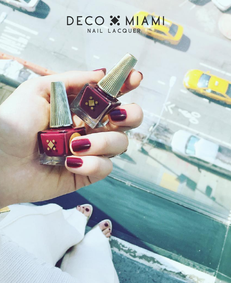BETTER THAN THE PHOTOS - cranberry - crème nail lacquer by Deco Miami NYC lifestyle