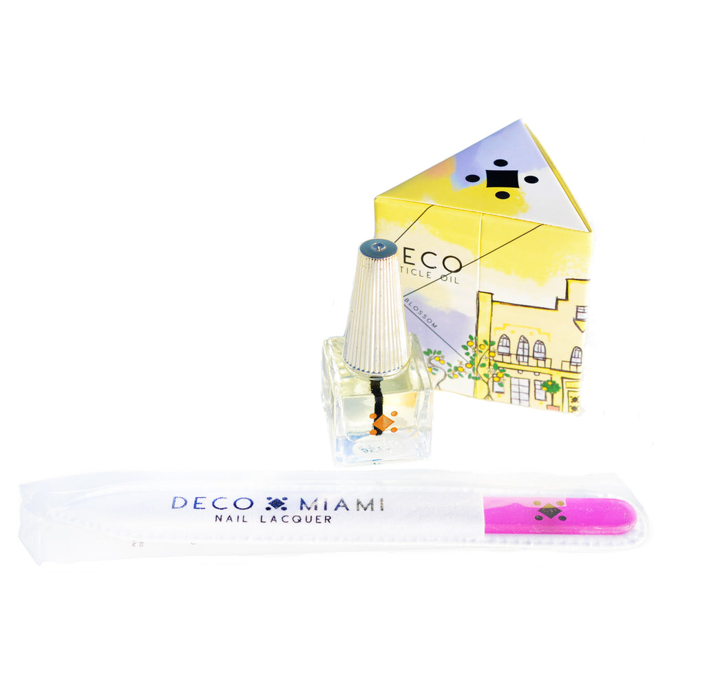 CUTICLE OIL + FILE SET