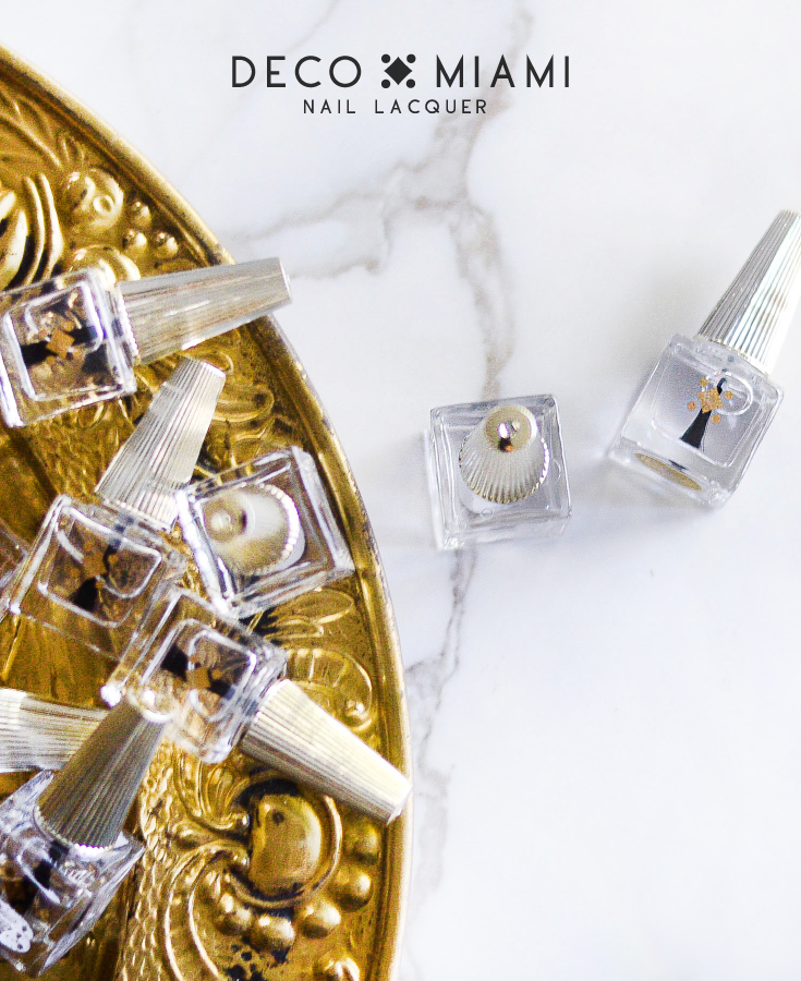 DUAL TOP/BASE COAT - 6ML - clear nail care nail lacquer by Deco Miami
