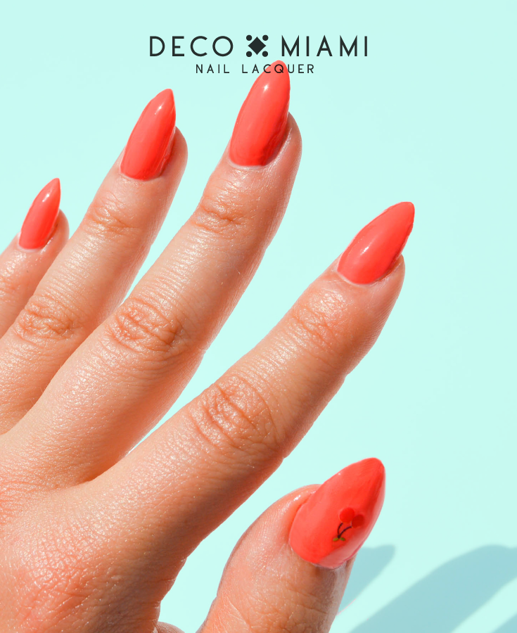 coral orange crème nail lacquer by Deco Miami swatch