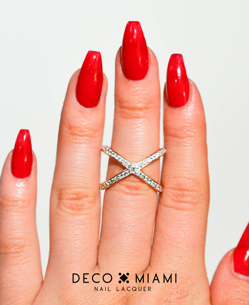 red crème nail lacquer by Deco Miami swatch