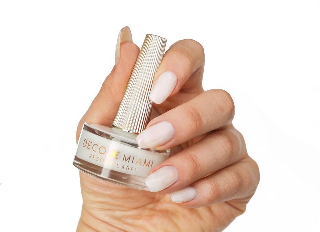 MOONSTONE - WHITE IRRIDESCENT - crème nail lacquer by Deco Miami