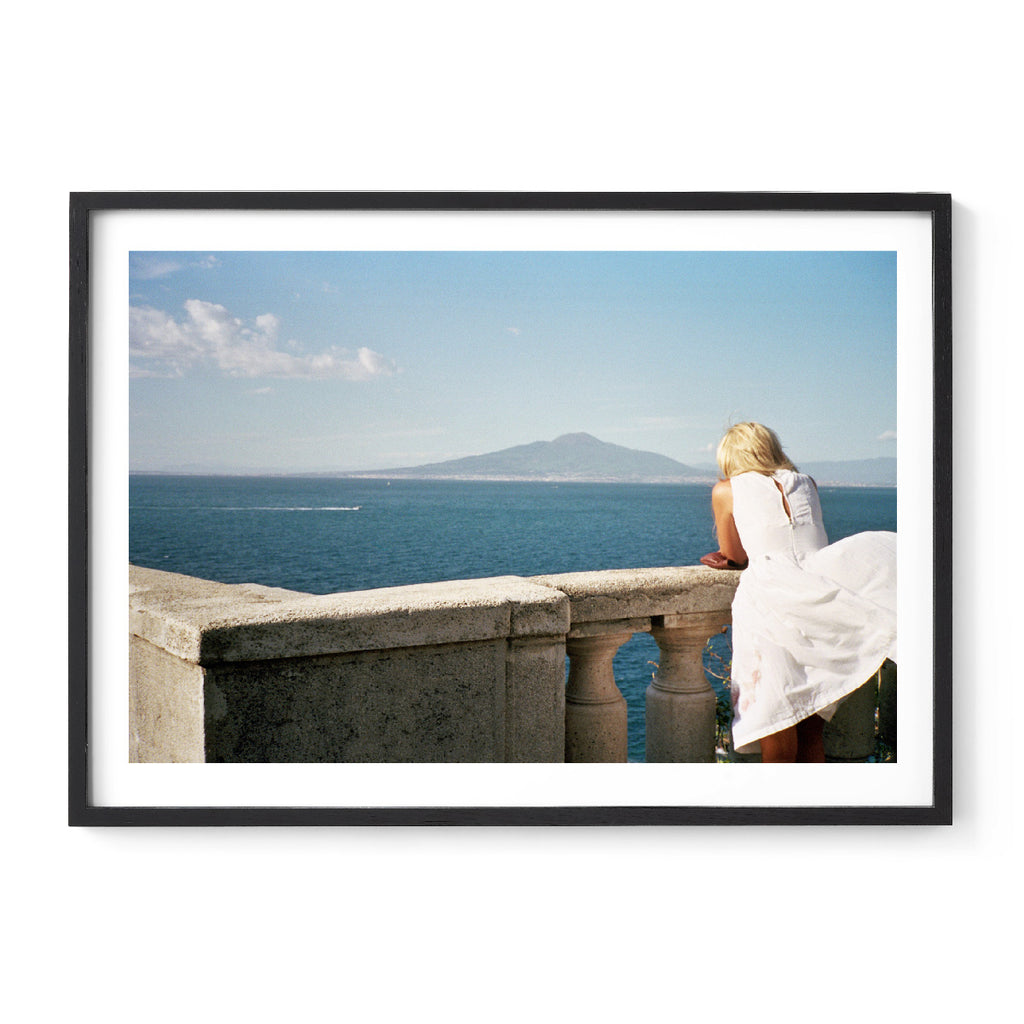 Untitled, Basta! (Sorrento, Woman and Vesuvius 2011)