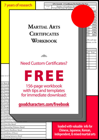 Free Guide to Martial Arts Certificates