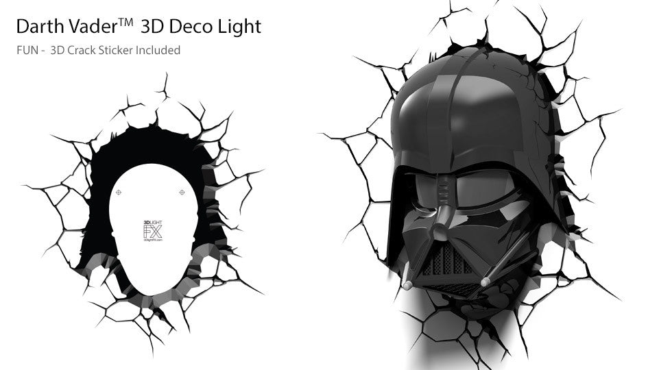 Crack Sticker - Star Wars Darth Vader Helmet